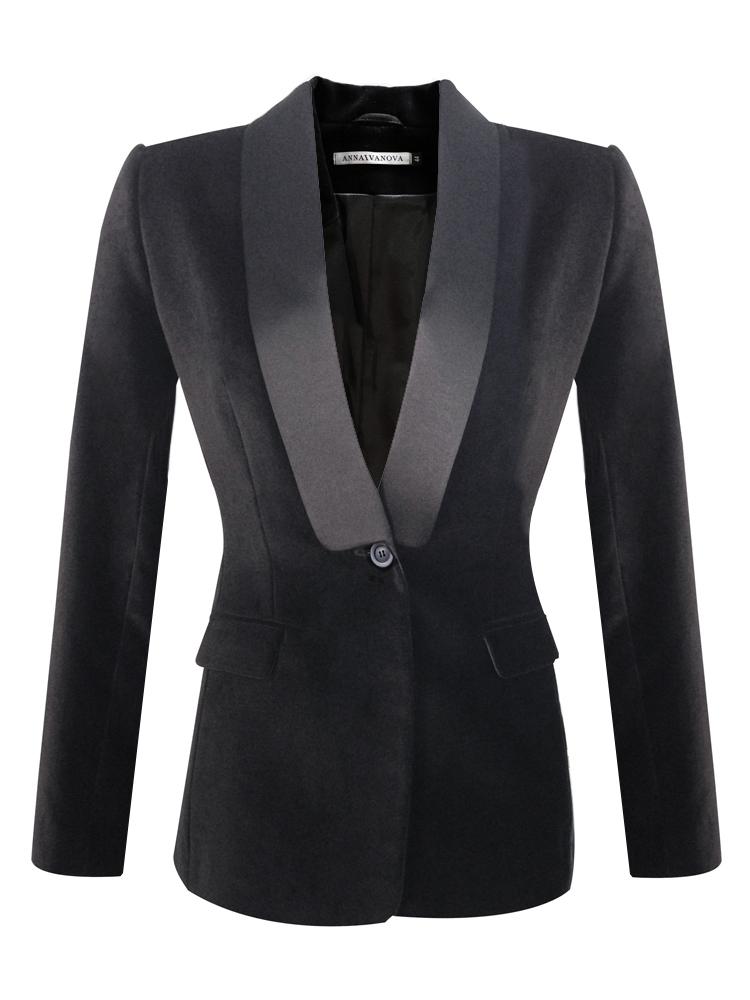 сечение, воротник шалька на пиджаке женском фото ознакомления