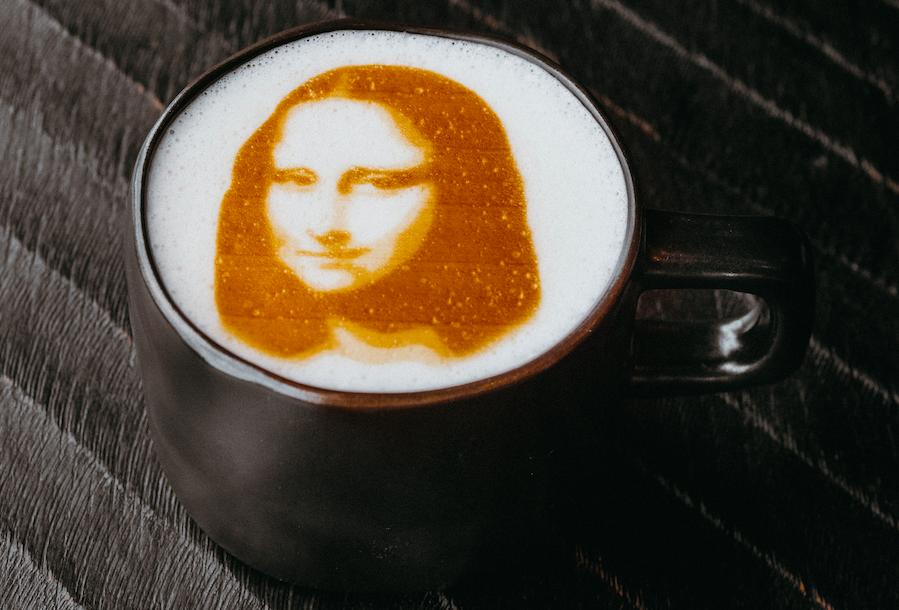 вашему вниманию печать фото на кофейной пенке всегда