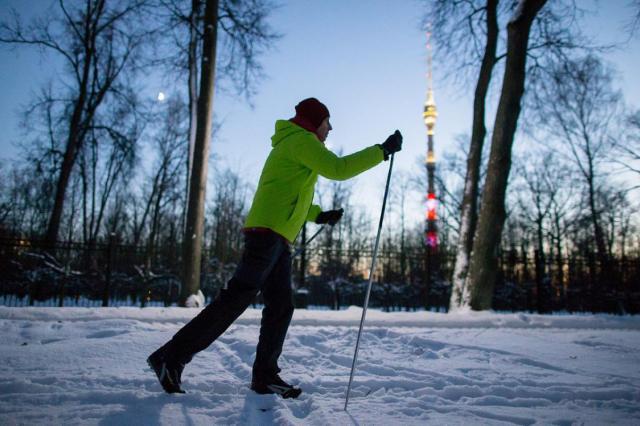 На ВДНХ открылся лыжный сезон