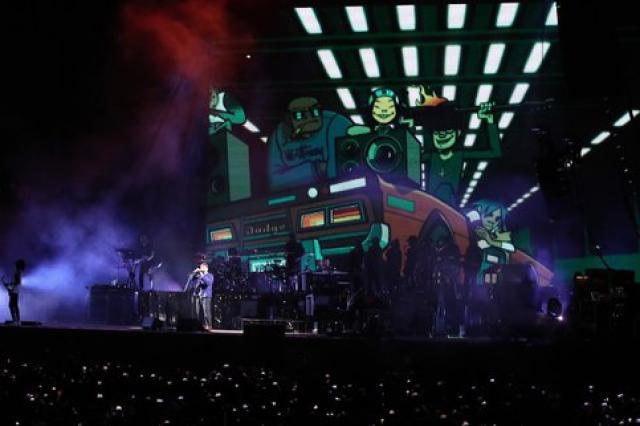 Первый концерт Gorillaz в Москве прервали из-за грозы