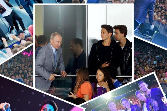 Молодые исполнители ЮрКисс и ВладиМир выступили в Сочи перед президентом России -Владимиром Путиным