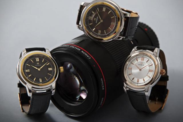 Часовой завод НИКА представил новинку - часы, выполненные в технике БИКОЛОР