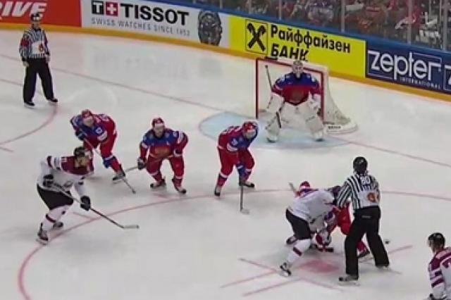 Сборная Латвии сдалась россиянам со счётом 0:4
