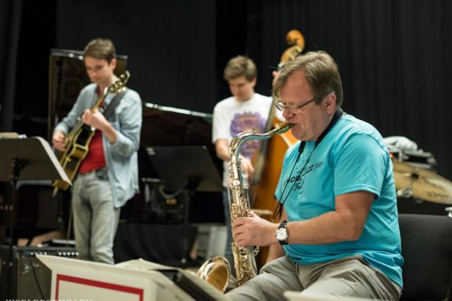 Репетиция участников World Jazz Festival