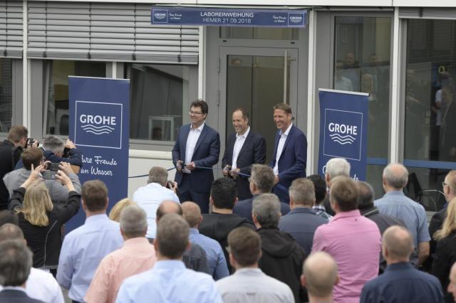 GROHE инвестирует в инновации: на производстве в городе Хемере открылась главная исследовательская лаборатория
