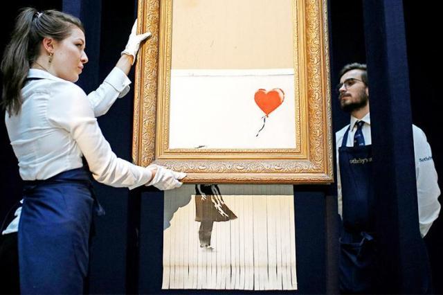 Остатки изрезанной картины Бэнкси продали как новый арт-объект