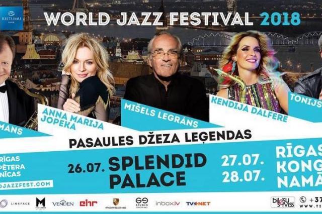 Юбилейный World Jazz Festival пройдёт в Риге с 26 по 28 июля