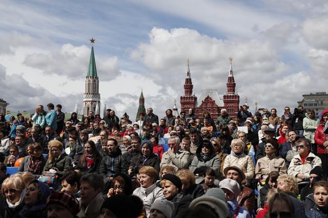 На Красной площади прошел вечер памяти Евгения Евтушенко