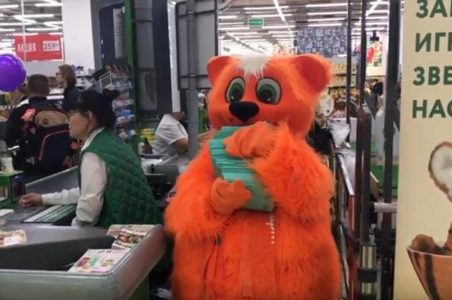 Огромные рыжие коты завелись в сетевых магазинах