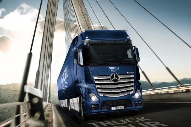 Фирменные грузовики GROHE снова отправились в путешествие по миру