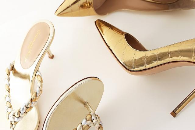 Роскошная золотая обувь для золотой осени