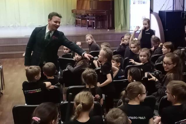 Александр Олешко провёл мастер-класс в Детском музыкальном театре «Домисолька»