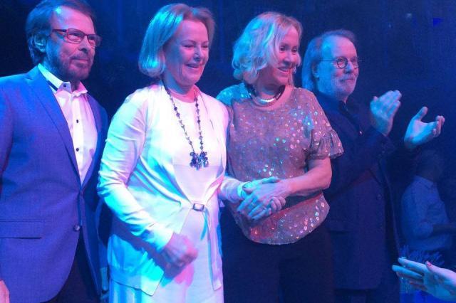 Участники легендарного квартета ABBA впервые за 8 лет собрались вместе