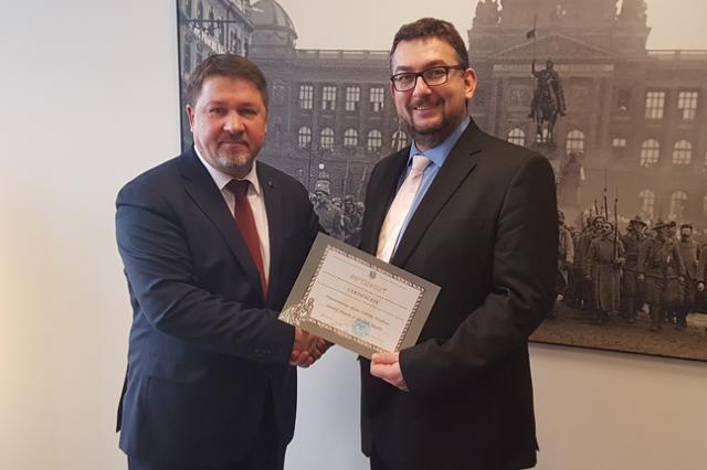 Белорусский дипломат встретился с Гендиректором Национального музея Чехии
