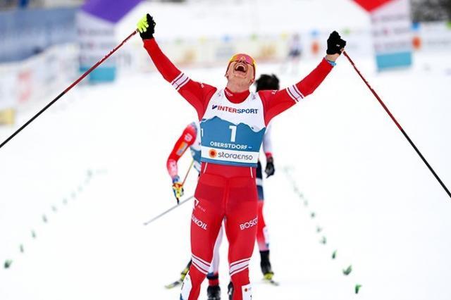 Российский лыжник Александр Большунов стал Чемпионом мира в скиатлоне!