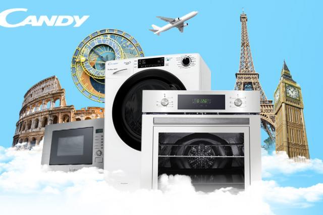 Candy обновила официальный интернет-магазин и запустила акцию с бесплатными авиабилетами в Candy Европу
