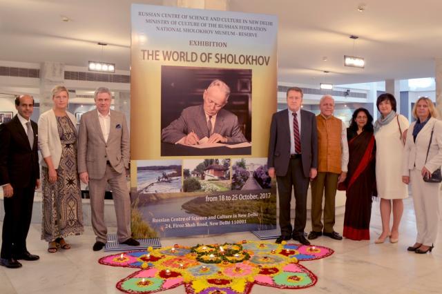 В Нью-Дели открылась выставка «Мир Шолохова»