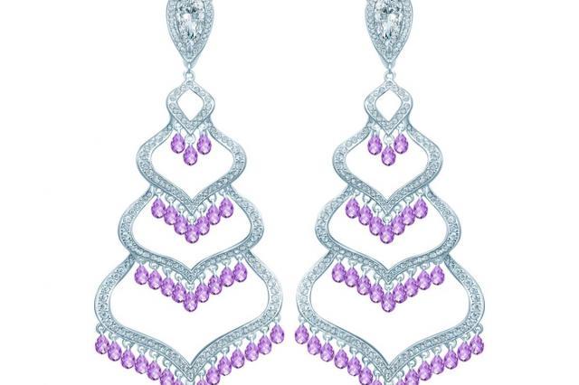 Фиолетовые украшения в коллекции HYDRANGEA от KoJewelry