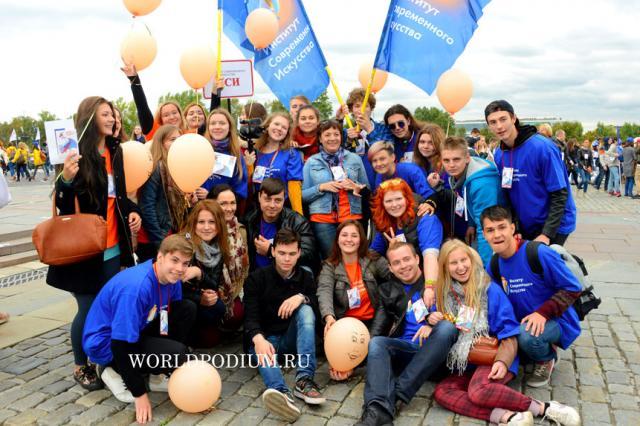 Студенты ИСИ на Московсковском Студенческом Параде 2015