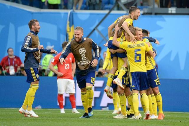 Сборная Швеции вышла в четвертьфинал чемпионата мира по футболу