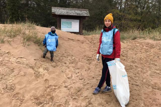 «Комаровский берег» в Санкт-Петербурге очистили от мусора