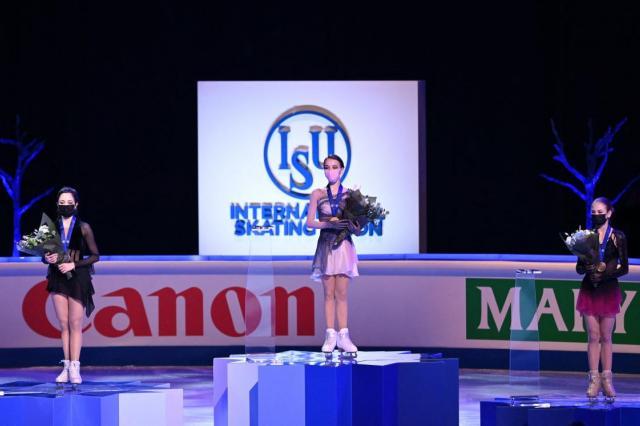 Впервые в истории три российские фигуристки заняли весь пьедестал почёта на Чемпионате мира!