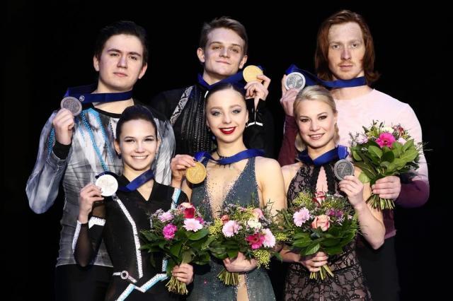 Российские пары заняли весь пьедестал на Чемпионате Европы по фигурному катанию в Граце