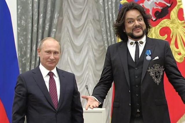 Владимир Путин наградил Филиппа Киркорова орденом почёта