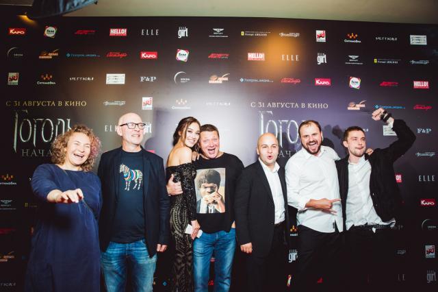 Петров и Меньшиков представили звездам фильм «Гоголь. Начало»