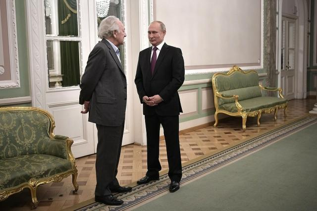 Владимир Путин посетил гала- концерт по случаю юбилея Юрия Темирканова