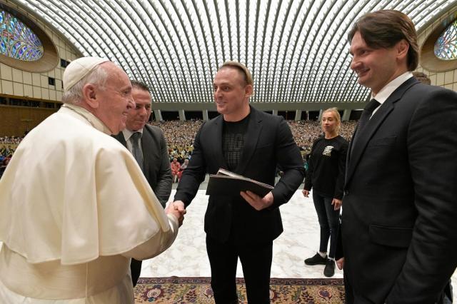 Братья Запашные на аудиенции у Папы Римского в Ватикане