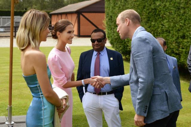 Юлия Энхель по приглашению принцев Уильяма и Гарри посетила королевский турнир по конному полу