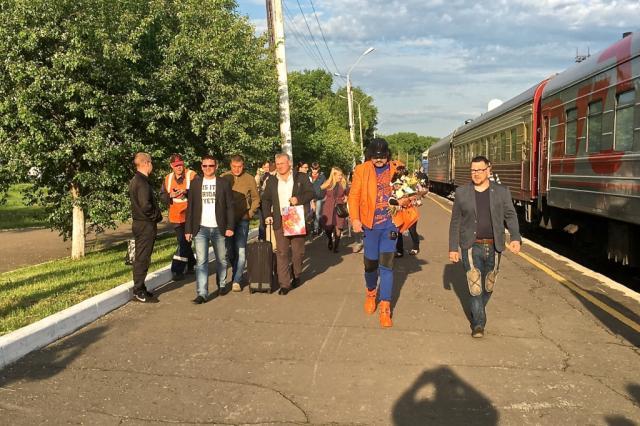 Тур Шоу Я . Снято на iPhone. Поезд идет на Восток!