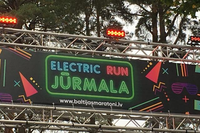"""Electric run Jūrmala"", - сообщает наш коресспондент из Латвии Мара Ошурока"