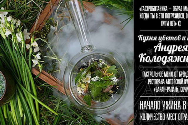 «Кухня цветов и трав» Андрея Колодяжного