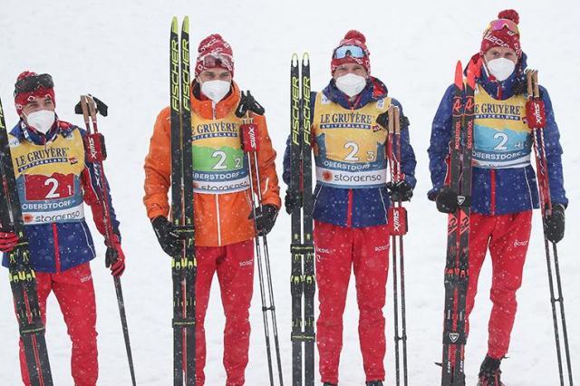 Российские лыжники завоевали серебряные медали на чемпионате мира в немецком Оберстдорфе