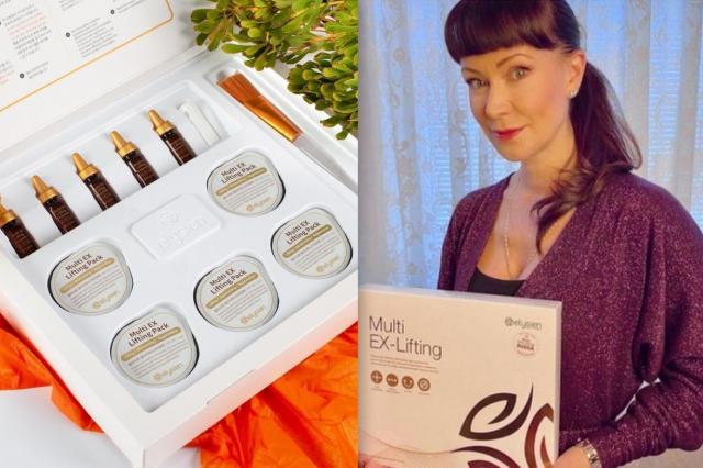 Знаменитости рекомендуют лифтинг-маску для мышц лица Elysien Multi EX-lifting от компании Skindex