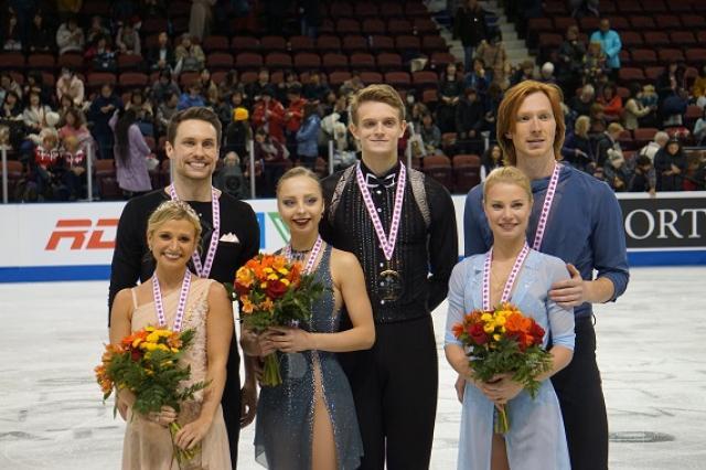 Александра Бойкова - Дмитрий Козловский одержали победу на канадском этапе Гран-при, Евгения Тарасова - Владимир Морозов - бронзовые призеры