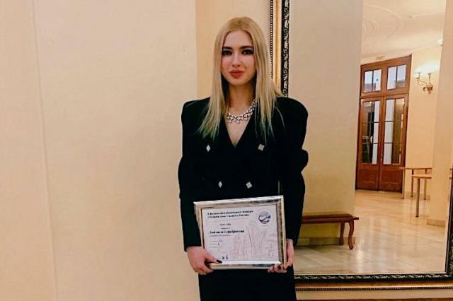 Студентка 2 курса ИСИ  получила Гран при ll Всероссийского интернет - конкурса «Музыкальные таланты России»