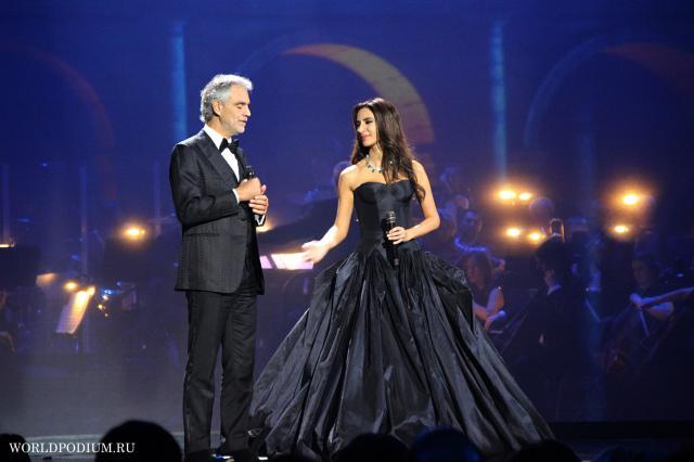 Зара спела в Риме вместе с Андреа Бочелли