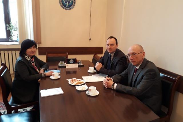 Посол Белоруссии провел встречи в Департаменте по кинематографии культурного ведомства Киргизии