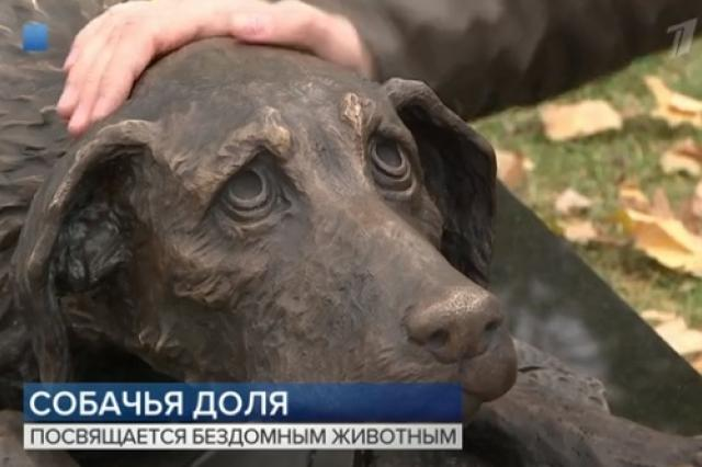 В Москве появился памятник бездомным животным