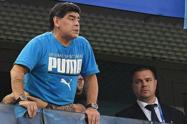 Марадона госпитализирован после матча Аргентина–Нигерия в Петербурге