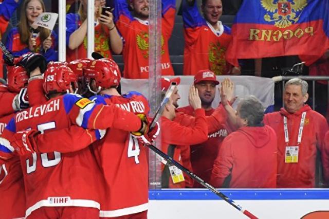 Сборная России обыграла датчан, одержав четвертую победу на ЧМ по хоккею