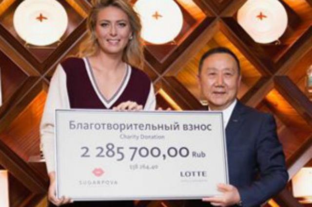 Шарапова пожертвовала на благотворительность более 2 млн рублей