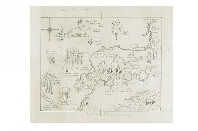 Карту волшебного мира Винни-Пуха продали за рекордные $570 тыс.