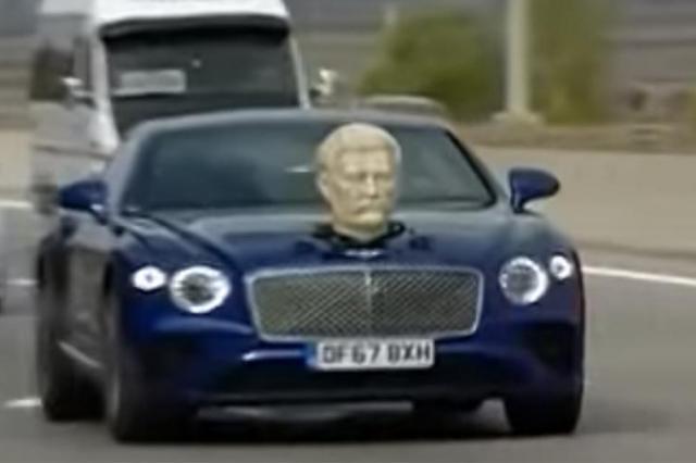 Экс-ведущий Top Gear провез бюст Сталина на капоте машины в Грузии
