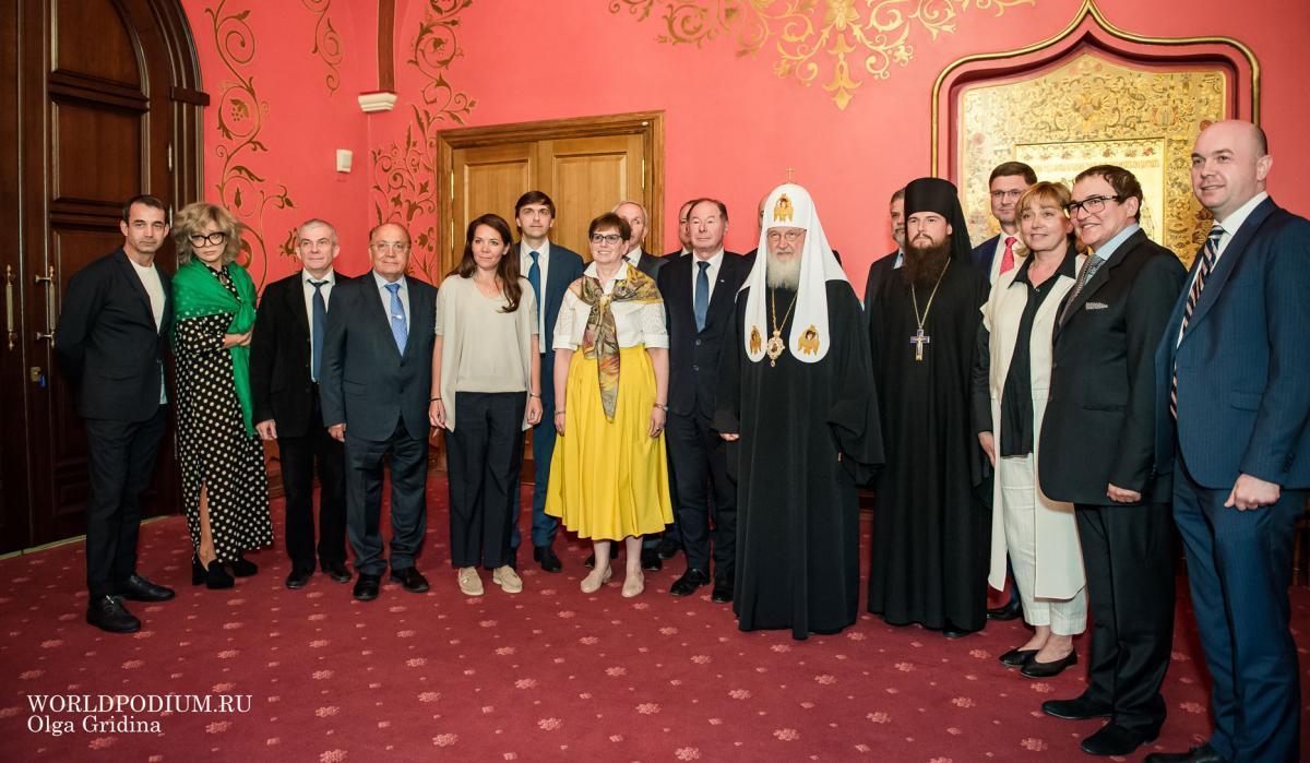 Встреча Святейшего Патриарха Кирилла с представителями Консорциума вузов Москвы
