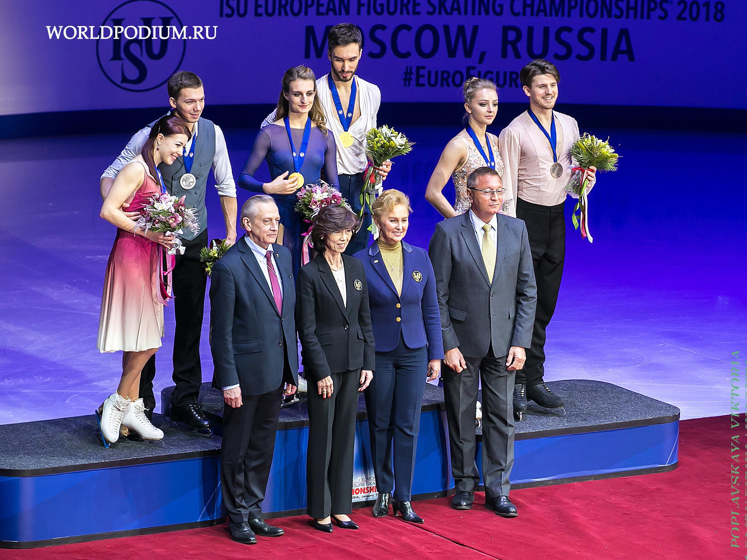 Чемпионат Европы по фигурному катанию. Танцы на льду.