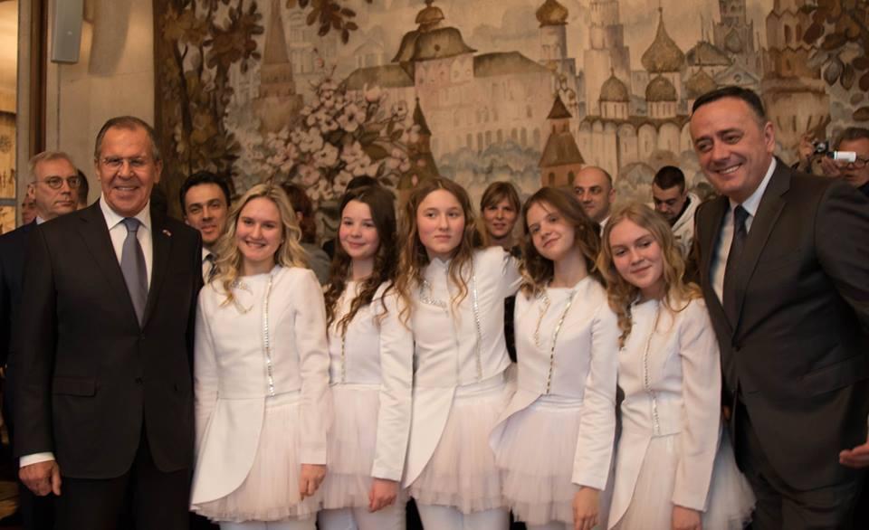 Ансамбль «Домисолька» выступил в Сербии в составе делегации главы российского МИД Сергея Лаврова